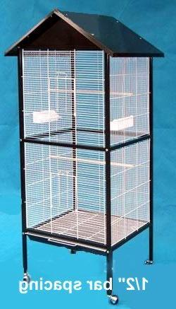 Outdoor/Indoor Flight Aviary Cage Black L24 X W24 X 66H by M