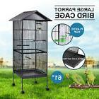 "Iron Parrot Finch bird Cage 61""  Play Top Pet Supplies w/Per"