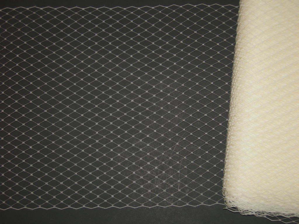 Ivory veil french Hat net +