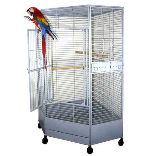 "Kapoho Corner Cage Perfect for Parrots, African Greys, Large - 50""W X 36""D - Black"