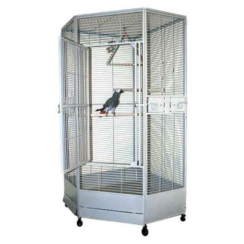 "Kapoho Corner Bird Perfect for African Greys, Macaws, Large X 36""D - Black"