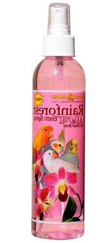 KINGS CAGES Rainforest Mist Bath Spray for SMALL BIRD parrot