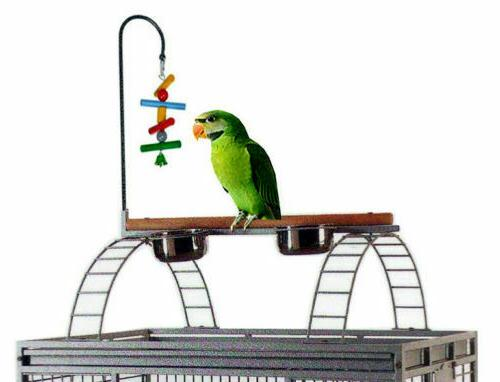 """78"""" Large Wrought Open Play Top Dome Ladder Parrot Bird Cage"""