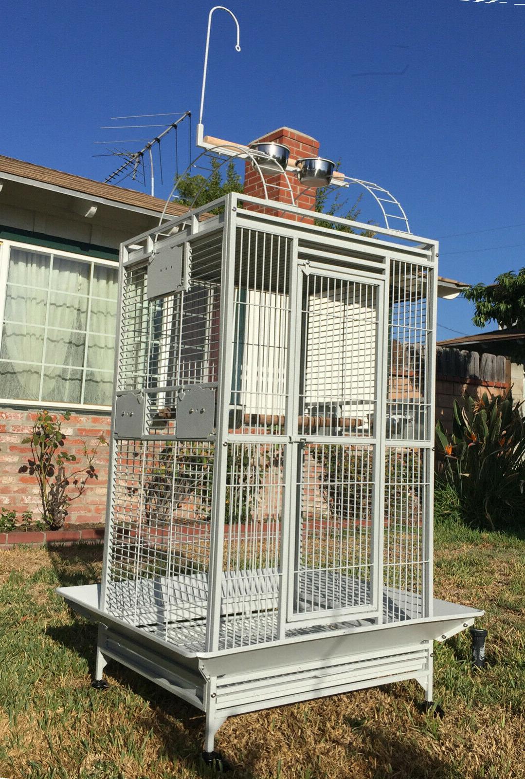 large 78 bird parrot playtop cage cockatiel