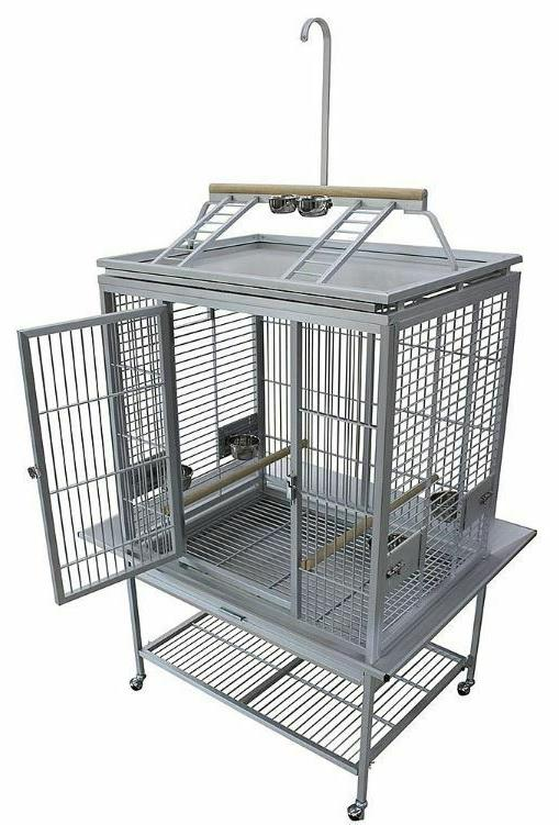 KINGS CAGES LARGE ALUMINIUM PARROT CAGE ACP 3325 bird toy to
