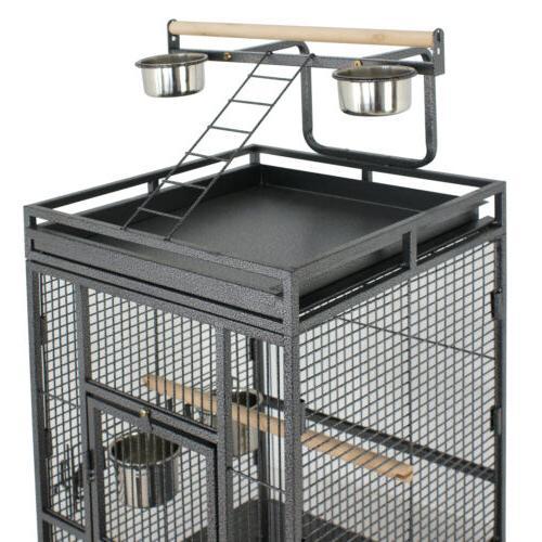 Large Bird Cage Play Top Bird Parrot Cage Macaw Bird