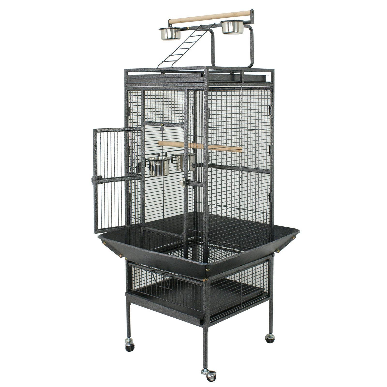 large bird cage play top bird parrot