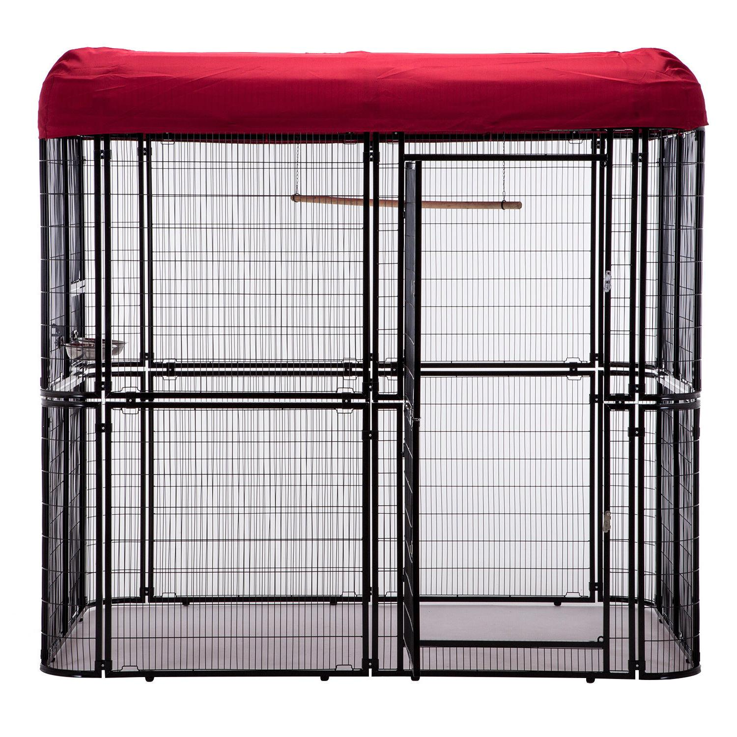 Large Bird Cover Walk Aviary Cage Waterproof Roof Heavy