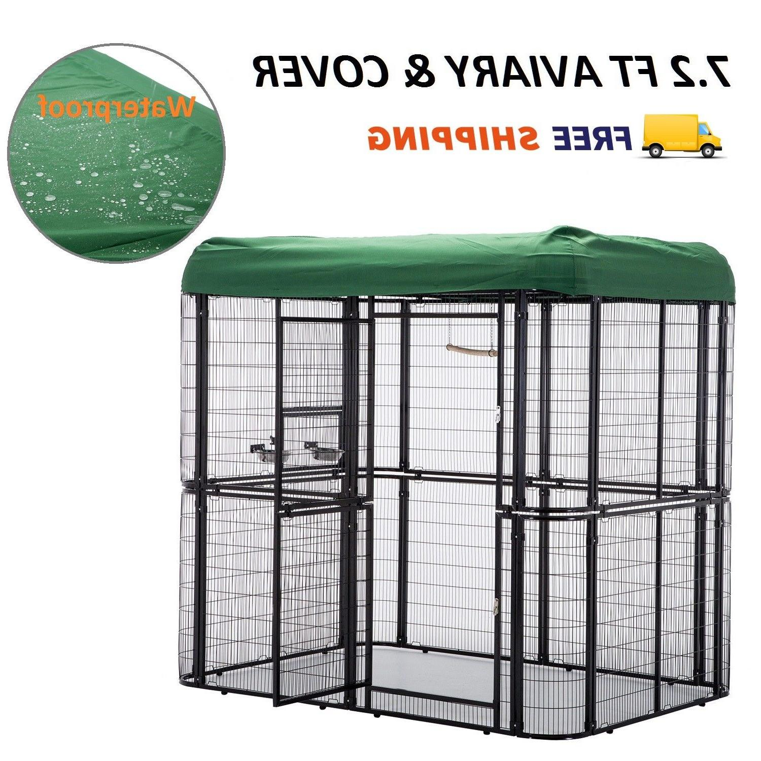 large bird cage w cover outdoor walk