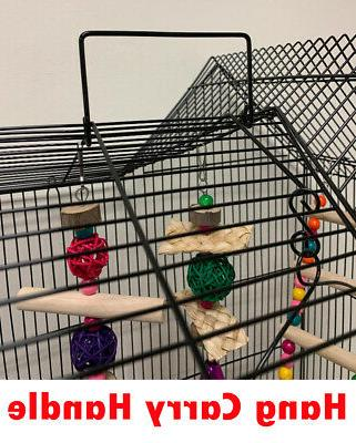 Large Double Roof Top Bird W/Toys Canary