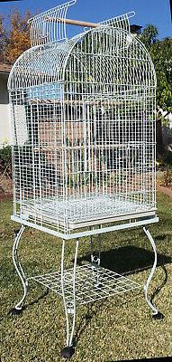 Large Dome Open Top Parrot Bird Cage On Stand for Sun Parake