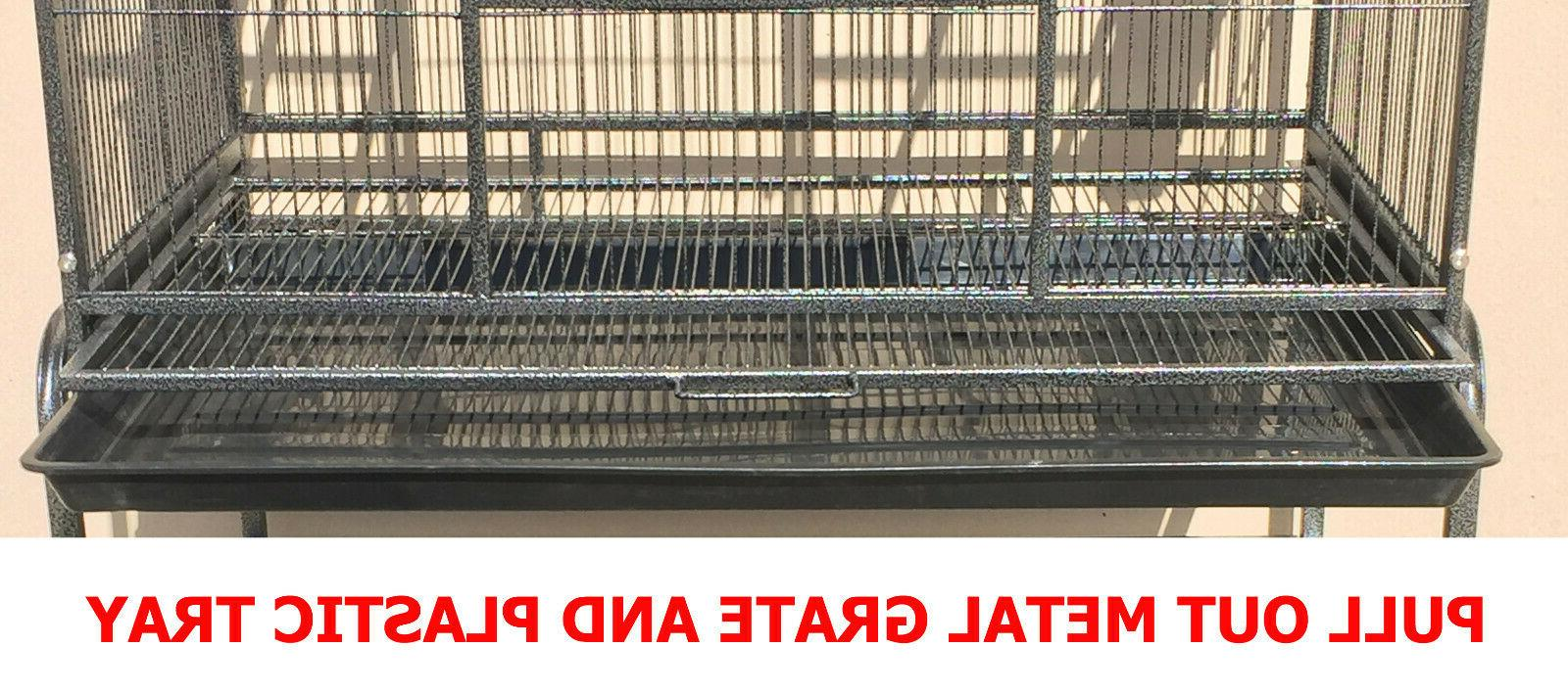 LARGE Double Bird Cage Breeder Cage With Divider