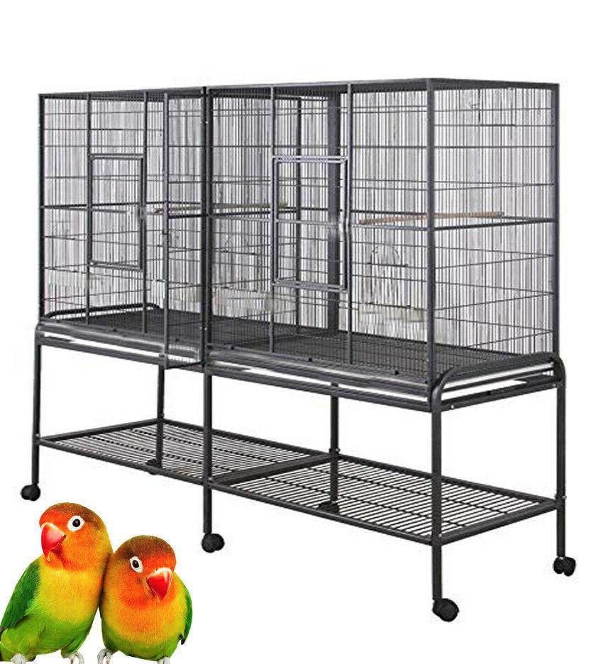 large double birdhouse treehouse bird cage