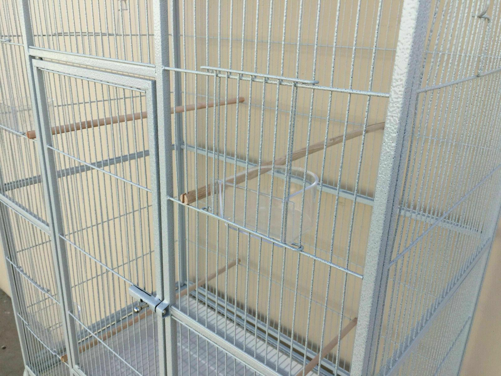 LARGE Double Flight Bird Cage Canary Aviary