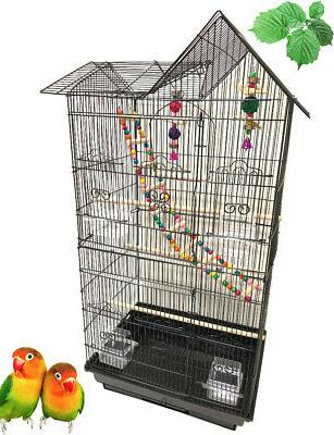 large double roof top bird flight cage