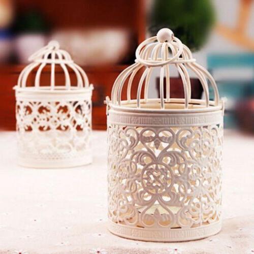 LOT Vintage Hanging Cage Holder Candlestick Lantern