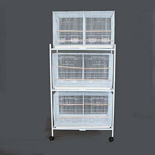 """Lot of 3 Bird Breeding Cage 30x18x18""""H Divider Stand"""