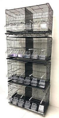 Lot of 4 Bird Flgiht Finch Canary Breeder Breeding Cages Wit