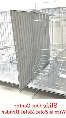 Lot of Bird Flgiht Breeding Cages With Dividers