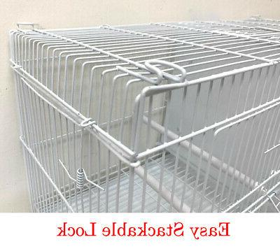 Lot 4 Bird Flgiht Breeding Cages With Dividers