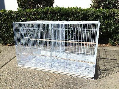 "4 Large 30"" Bird Cages W/Center Divider"