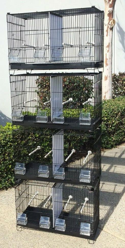 Lot Double Breeding Cages W/Rolling