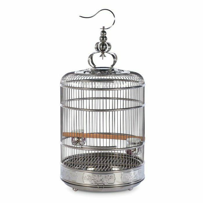 lotus stainless steel bird cag