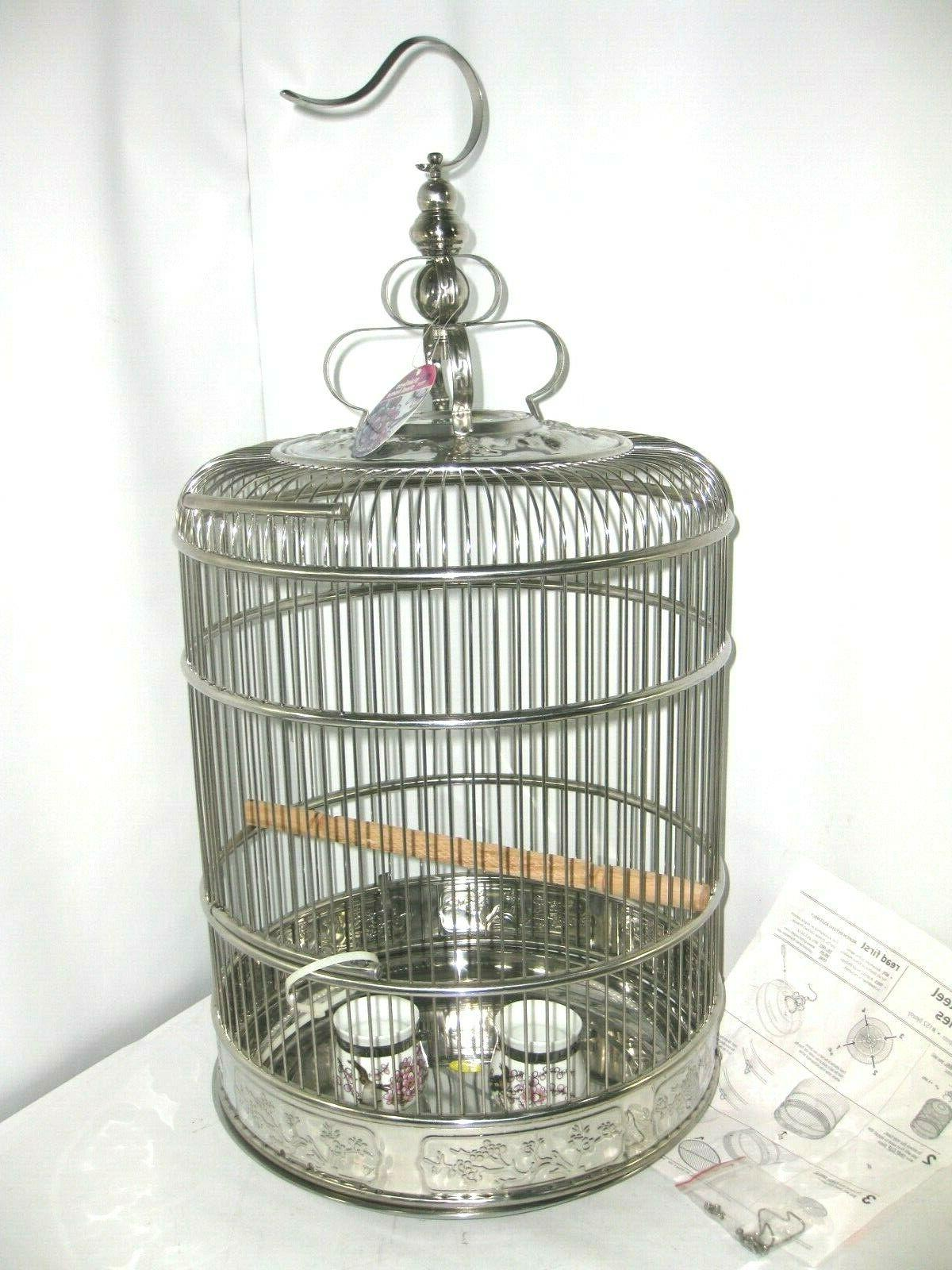 lotus stainless steel bird cage