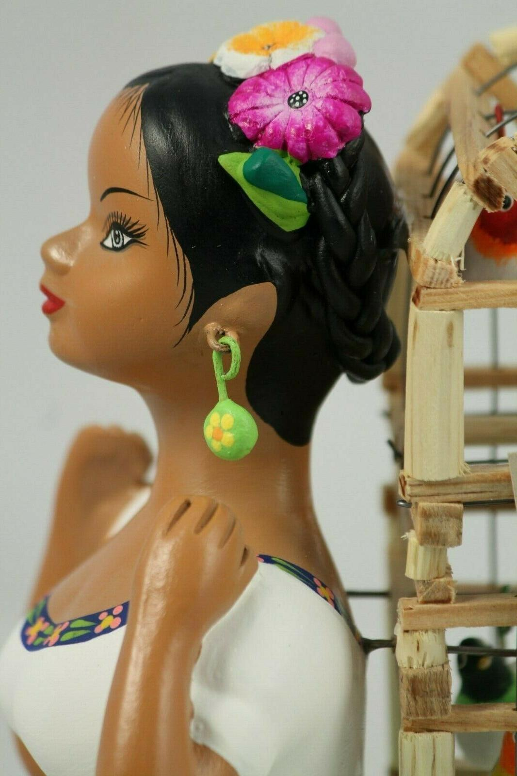 Lupita Najaco Doll Bird Cage Dress Ceramic Decor