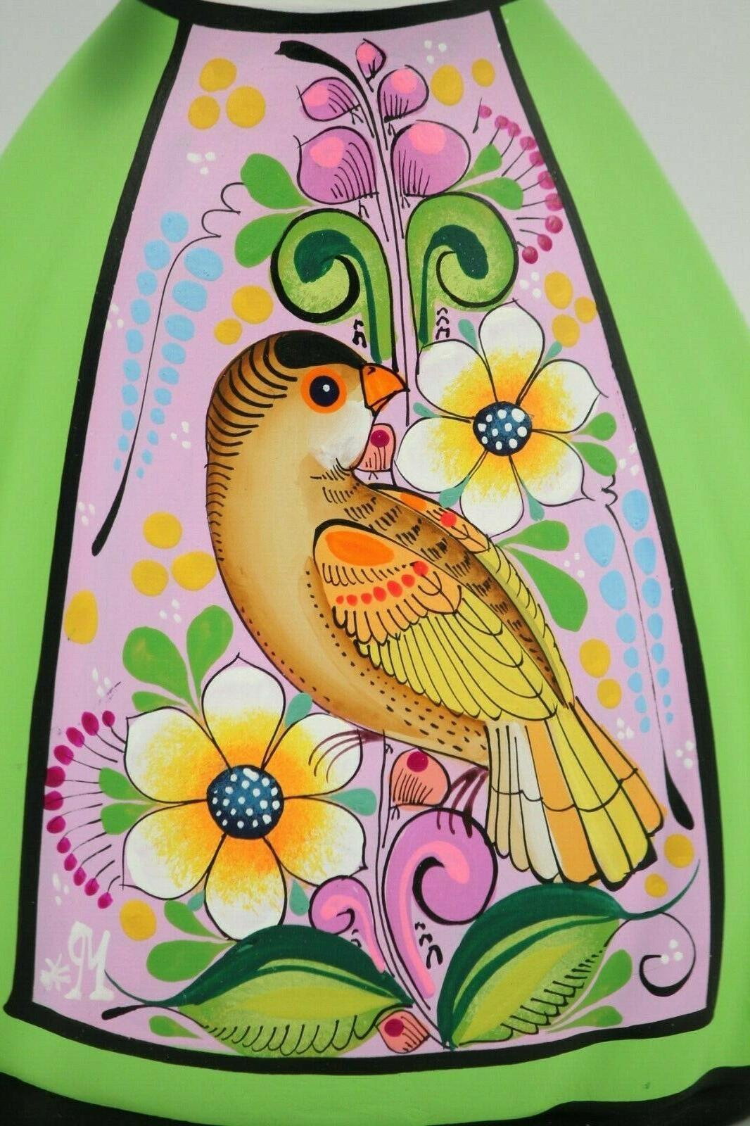 Lupita Najaco Cage Lime Green Ceramic Mexican Folk Decor