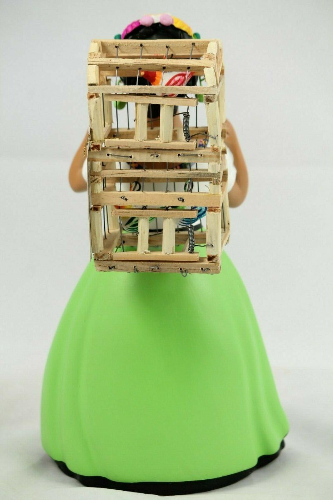 Lupita Cage Lime Ceramic Folk Decor