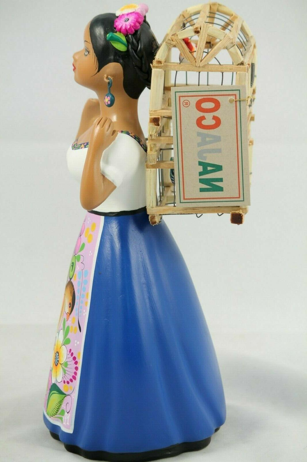Lupita Doll Cage Royal Blue Ceramic Mexican Home