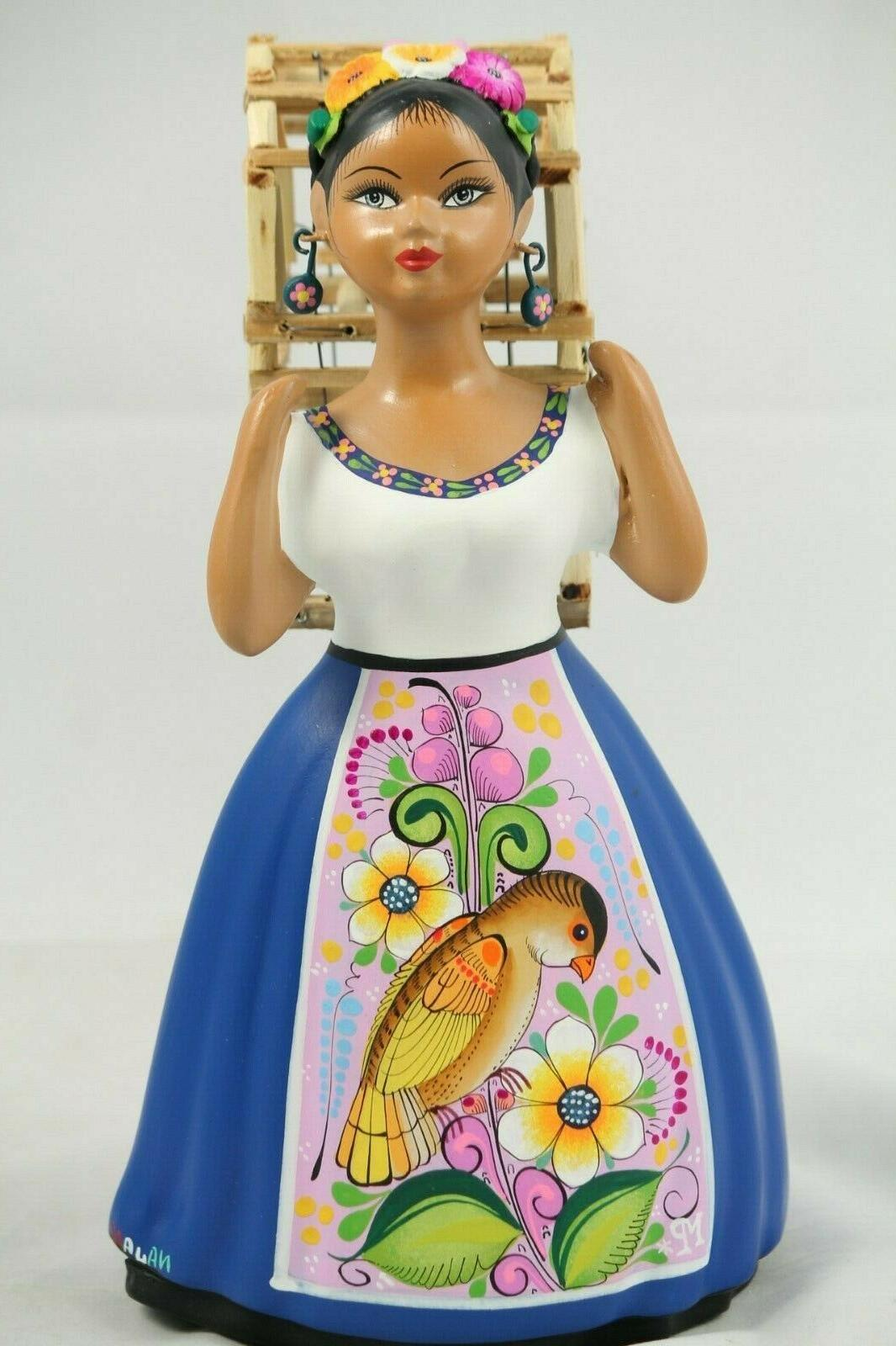 lupita doll bird cage royal blue dress