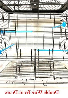 LARGE Acrylic Transparent Parakeet Cockatiel LoveBird Bird Cage
