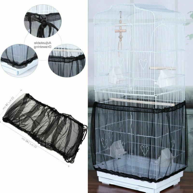 mesh pet bird cage seed catcher tidy