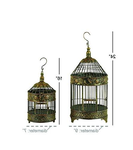 Deco Metal Bird Cage, and Set 2