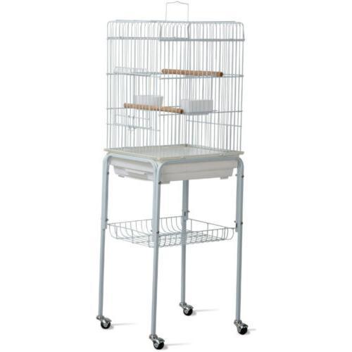 Metal Rolling Parrot Cockatiel Conure Bird Cage Stand