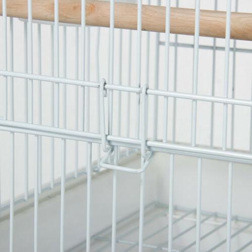 Metal Rolling Mid- Parrot Bird Cage