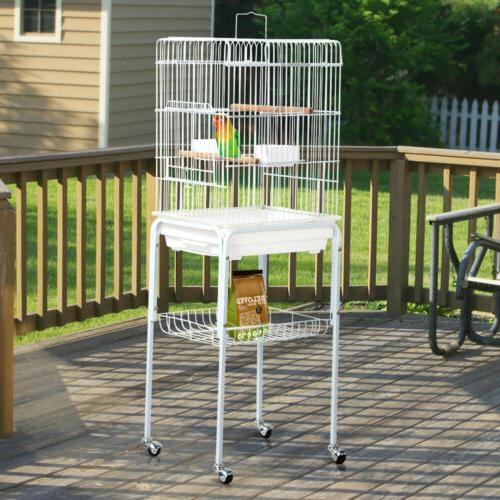 Metal Rolling Mid- Sized  Parrot Cockatiel Conure Bird Cage