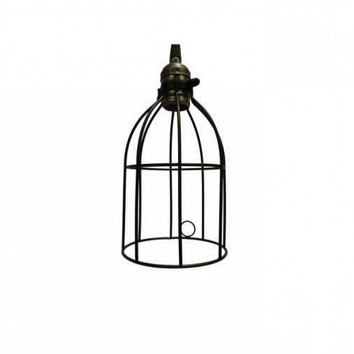 Metal Lampshade Chandelier Ceiling Black