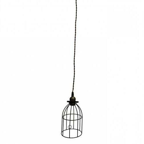 Metal Bird Cage Style Lampshade Black