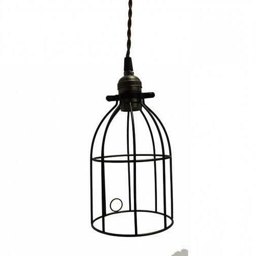 metal bird cage style lampshade chandelier ceiling