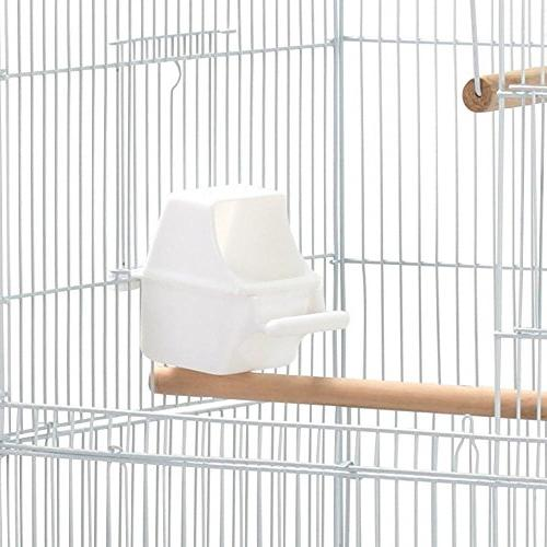 Medium for Ring Cockatiels Sun Cheek Conures Lovebirds Travel Bird Cage, White