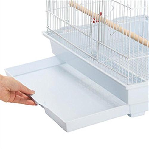 Yaheetech Medium Bird for Small Indian Ring Neck Cockatiels Sun Green Conures Finches Budgies Lovebirds Bird White