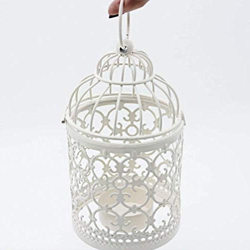 Ciaoed Small Hanging Birdcage Lantern, Decorative Centerpieces Wedding & Party Pack 2