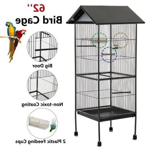 62'' Large Bird Parrot Cage Chinchilla Cockatiel Conure Hous
