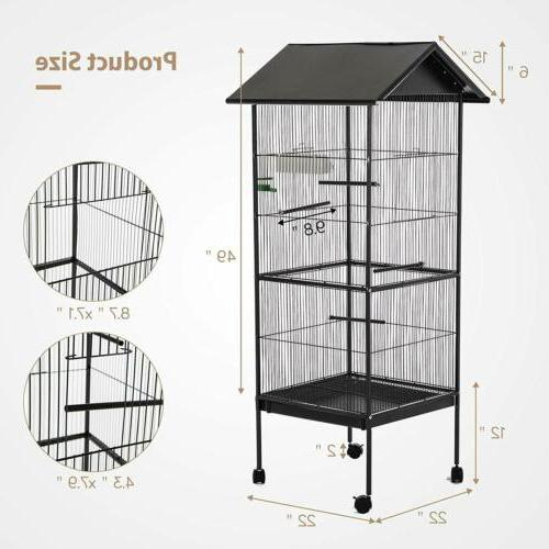 Large Bird Parrot Cage Chinchilla Cockatiel Conure House w/S