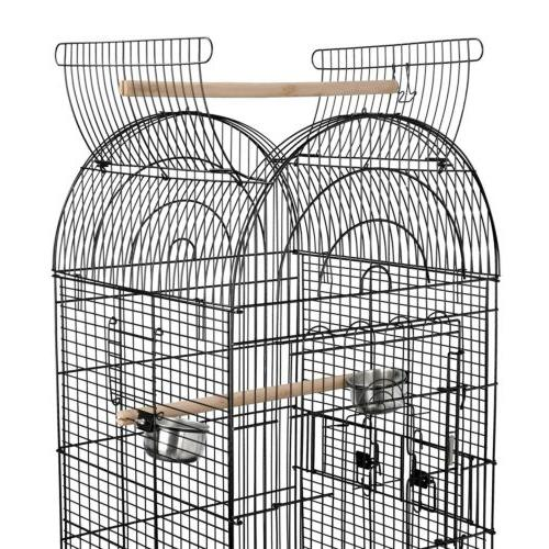 """63""""H Rolling Bird Cage w/Open Small Cockatiel Home"""