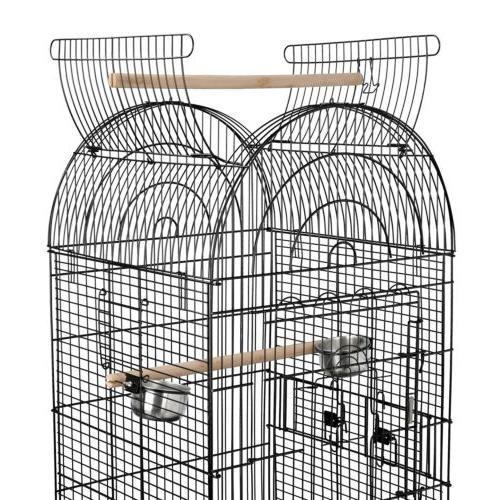 63'' Rolling Bird Cage Powder Lovebird W/Stand&Wheels
