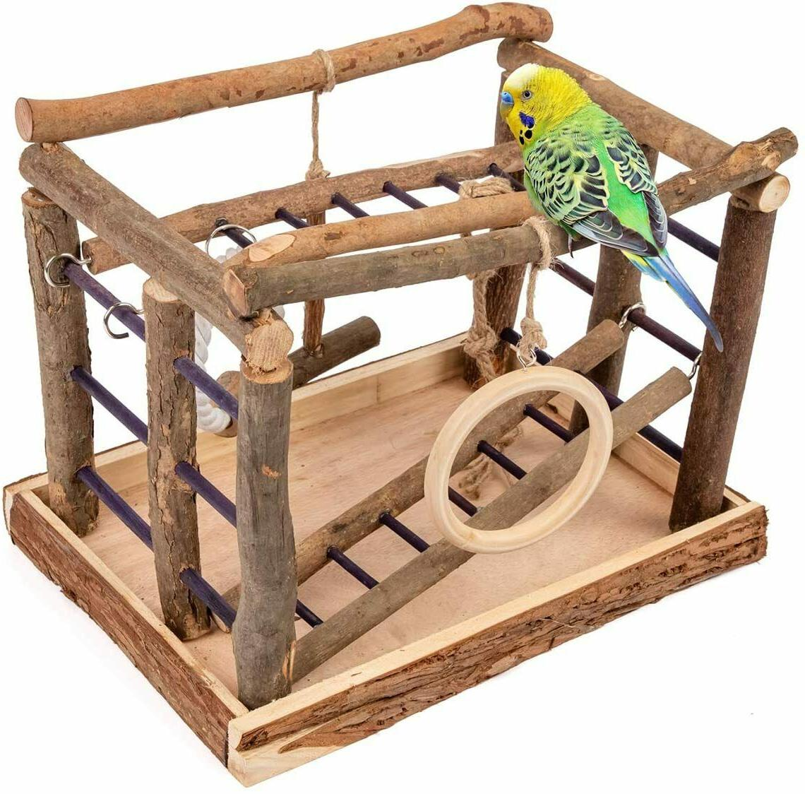 bird play gym stand toy parrot supply